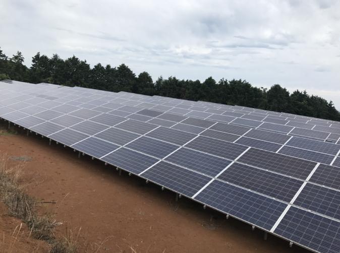 福岡県築上郡J 447.3kw 売電開始しました。